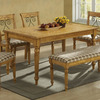 Monarch Specialties Cottage Pine Rectangular Dining Table