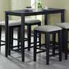 Monarch Specialties Black Oak Rectangular Counter-Height Dining Table