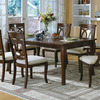 Monarch Specialties Walnut Rectangular Dining Table