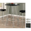 Monarch Specialties Silver Round Dining Table