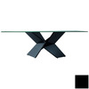 Rossetto USA Sapphire Black Rectangular Dining Table