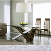Rossetto USA Mirage Wenge/Brushed Aluminum Rectangular Dining Table