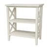 Oriental Furniture Classic Design White Rectangular End Table