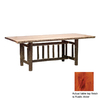 Fireside Lodge Furniture Hickory Standard Rustic Alder Rectangular Dining Table