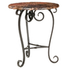Stone County Ironworks Stratford Natural Black Metal Oval End Table