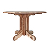 Montana Woodworks Homestead Stained and Lacquered Round Dining Table