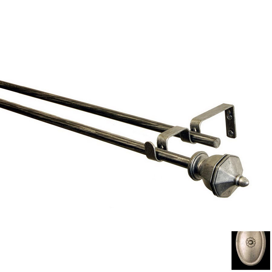 ... 28-in to 48-in Antique Silver Metal Double Curtain Rod at Lowes.com