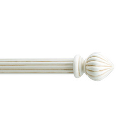 shop gould new york white wood curtain rod finial at