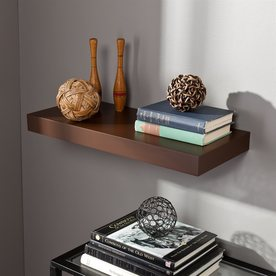Southern Enterprises 24-in Wood Wall Mounted Shelving