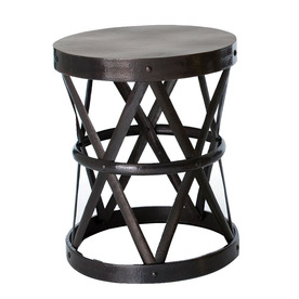 Shop Arteriors Home English Bronze Metal Round End Table At