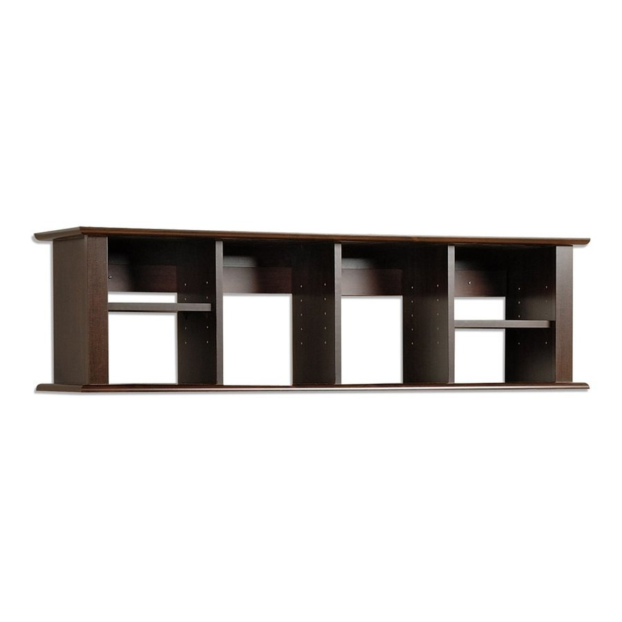 Shop Prepac Furniture 48 In Wood Wall Mounted Shelving At