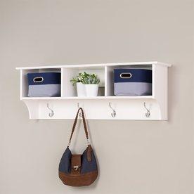 Prepac Furniture White 8-Hook Mounted Coat Rack