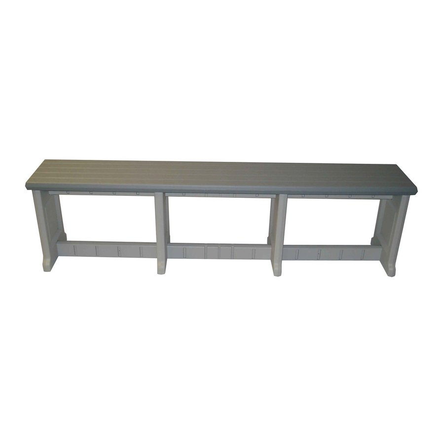 Shop Confer Plastics 74 In L Patio Bench At