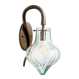 Varaluz Tusk 8.75-in W 1-Light New Bronze Arm Hardwired Wall Sconce