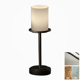 cascadia lighting 3 way brushed nickel touch table lamp with glass. Black Bedroom Furniture Sets. Home Design Ideas