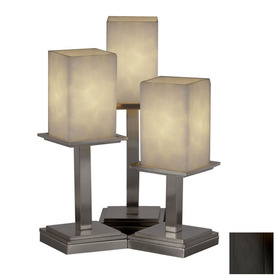 shop cascadia lighting 3 way matte black touch table lamp with shade. Black Bedroom Furniture Sets. Home Design Ideas