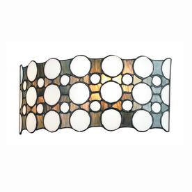 Gen-Lite 12-1/4-in W Domino 1-Light White Tiffany Style Pocket Wall Sconce
