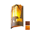 Steel Partners Timber Ridge 10-in W 1-Light Rust Pocket Hardwired Wall Sconce