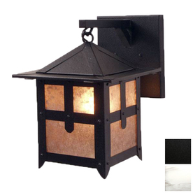 Shop Steel Partners 10 In W Hillcrest 1 Light Black Arm Wall Sconce At