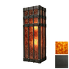 Steel Partners San Carlos 9-in W 1-Light Old Iron Pocket Hardwired Wall Sconce