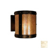 Steel Partners 7-1/2-in W Rivets 1-Light Architectural Bronze Pocket Wall Sconce