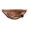 Stone County Ironworks Pine 12-in W 1-Light Rustic Bark Pocket Hardwired Wall Sconce
