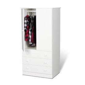 Prepac Furniture Edenvale White Armoire