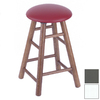 Holland Domestic Hardwood Series White Paint Oak 24-in Swivel Counter Stool