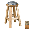Viking Industries Log Honey 24-in Counter Pub Bar Stool
