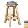 Viking Industries Log Clear 30-in Pub Bar Stool