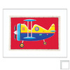Art 4 Kids 15-in W x 12-in H Airplanes Framed Wall Art