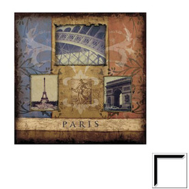 Shop art 4 kids 20 in w x 20 in h cityscape framed art at for Kitchen cabinets lowes with wall art cityscape