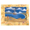 Art 4 Kids 24-in W x 18-in H Nautical Framed Wall Art