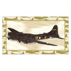 Art 4 Kids 30-in W x 17-in H Airplanes Framed Wall Art