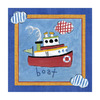 Art 4 Kids 10-in W x 10-in H Nautical Canvas Wall Art