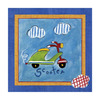 Art 4 Kids 10-in W x 10-in H Automotive Canvas Wall Art