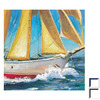 Art 4 Kids 23-in W x 23-in H Nautical Framed Wall Art