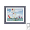 Art 4 Kids 37-in W x 31-in H Nautical Framed Wall Art