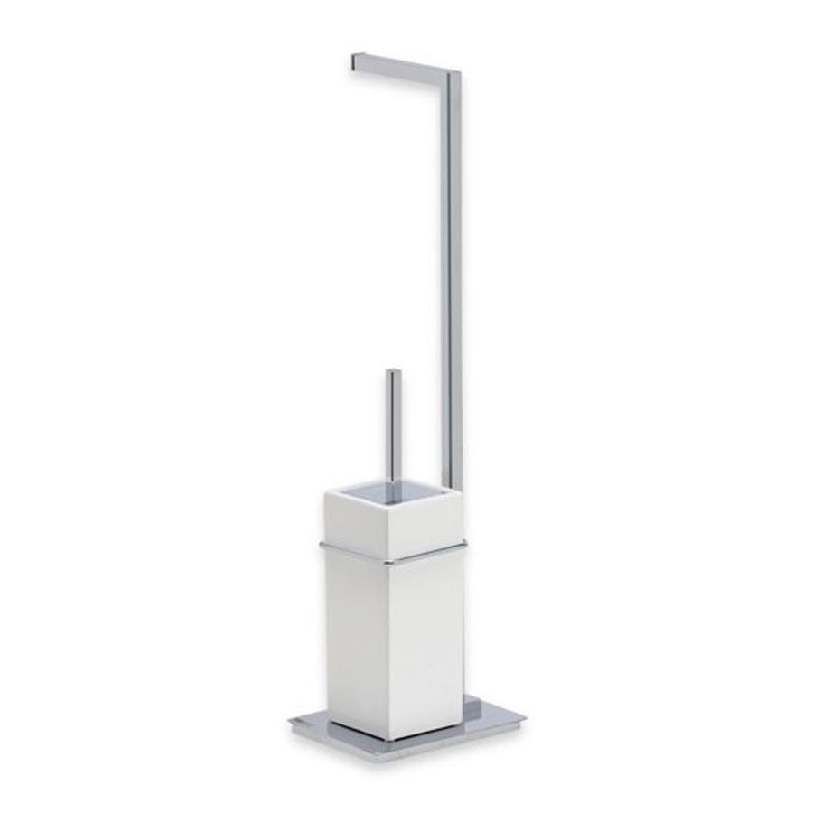Shop nameeks urania chrome freestanding floor toilet paper holder at - Toilet paper holder floor stand ...