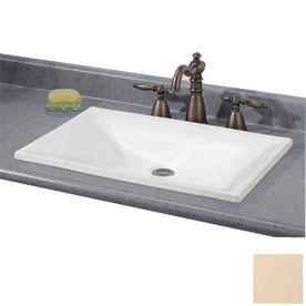 Shop Cheviot Estoril Biscuit Drop In Rectangular Bathroom Sink At