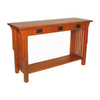 Wayborn Furniture Mission Oak Birch Rectangular Console and Sofa Table