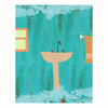 Cascadia 11-in W x 14-in H Bath Lines Canvas