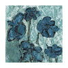Cascadia 16-in W x 16-in H Frameless Canvas Blue Tone Flowers Print Wall Art