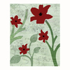 Cascadia 16-in W x 20-in H Frameless Canvas Red Flowers Print Wall Art