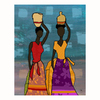 Cascadia 11-in W x 14-in H Frameless Canvas Colorful Dresses 1 Print Wall Art