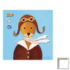 Art 4 Kids 12-in W x 12-in H Airplanes Framed Wall Art