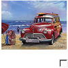Art 4 Kids 16-in W x 12-in H Automotive Seascape Framed Wall Art