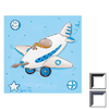 Art 4 Kids 17-in W x 17-in H Airplanes Framed Wall Art