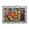 All My Walls 42-in W x 30-in H Frameless Metal Abstract Sculpture Wall Art
