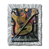 All My Walls 29-in W x 36-in H Frameless Metal Abstract Sculpture Wall Art